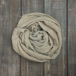 Taupe tan cotton scarf shawl hijab wrap turban NWT